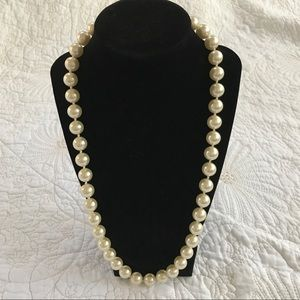 """Jewelry - Faux Pearl Necklace, Large Pearls 12"""""""
